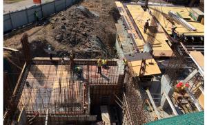 Fase final de Construcción de Tanque de Reserva de Agua